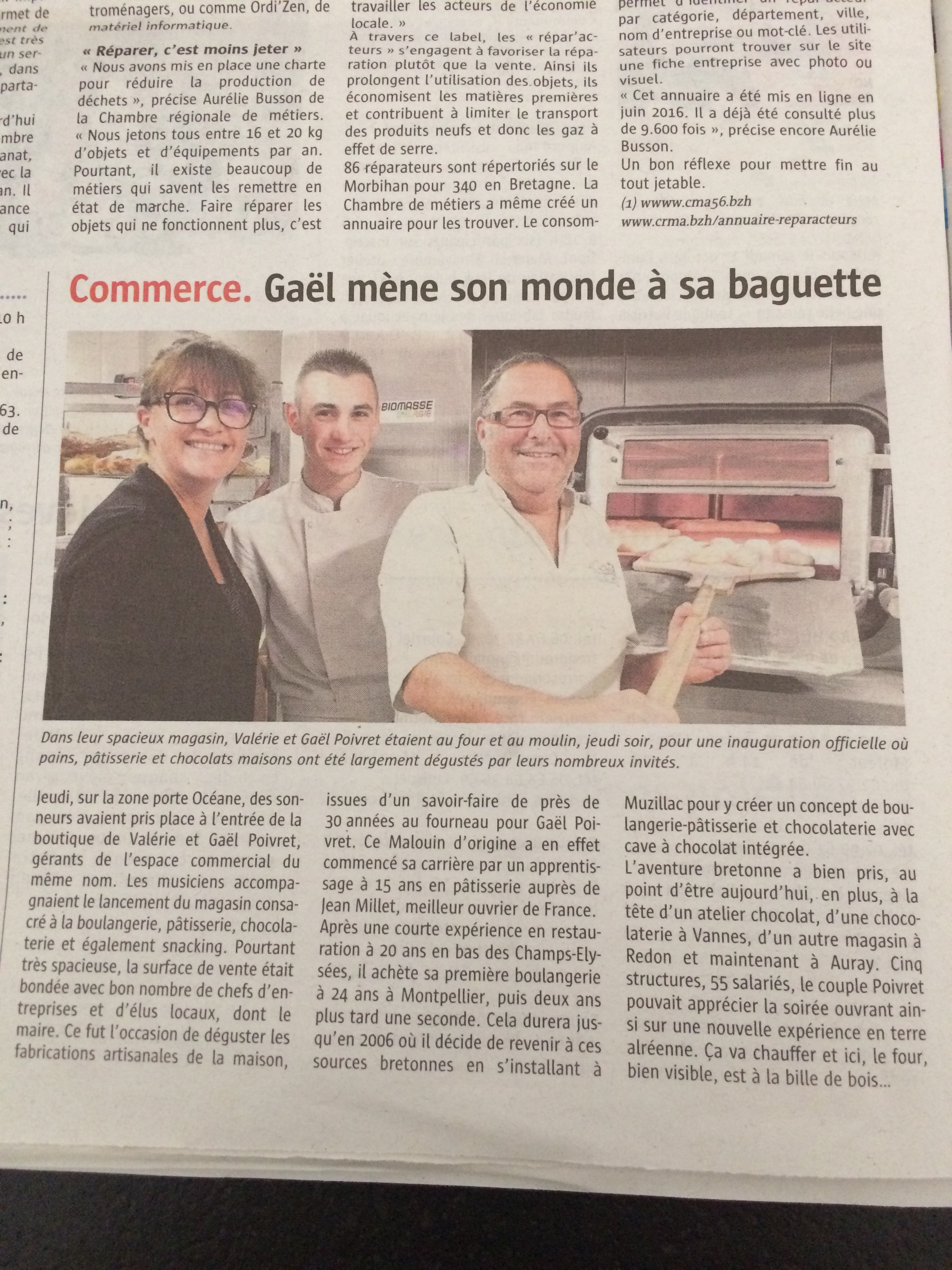article presse telegramme auray